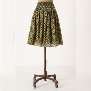 Anthropologie Monarch Butterfly Print Skirt
